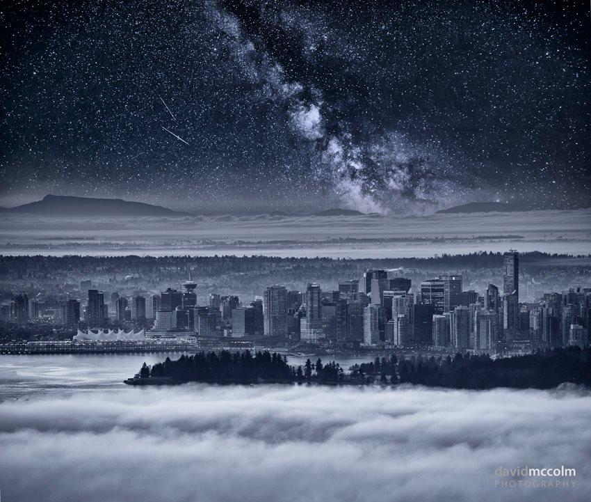 vancouver starry skies milky way