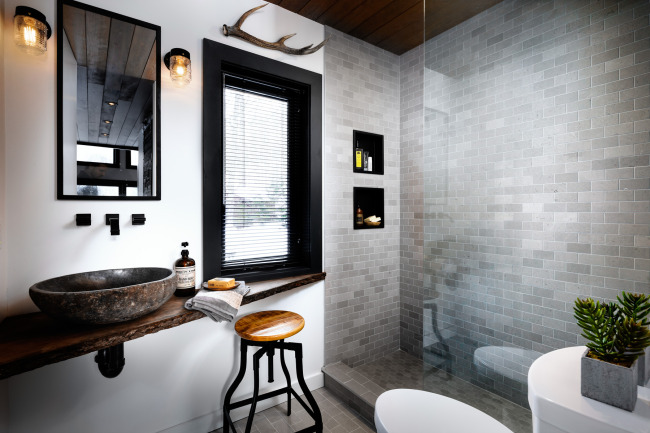 After: Bathroom/ photo credit: Brandon Barre