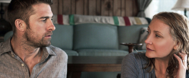 Scott Speedman and Patricia Clarkson in Ruba Nadda's OCTOBER GALE