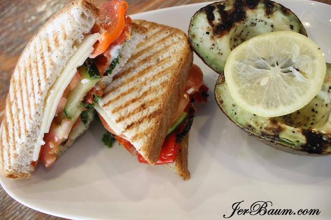 Veggie sandwich on gluten free bread - Tractor Food (photo by Jer Baum / Vancity Buzz)