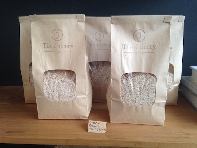 Almond flour at The Juicery Co. (Lindsay William-Ross/Vancity Buzz)