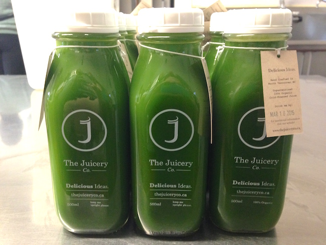Green juice as the customer sees it (Lindsay William-Ross/Vancity Buzz)