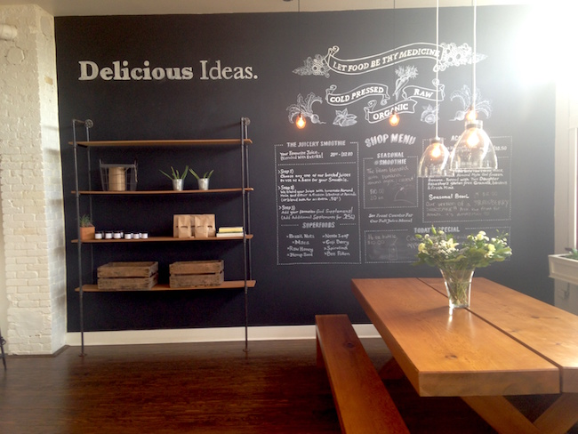 Inside The Juicery Co.'s Lonsdale store (Lindsay William-Ross/Vancity Buzz)
