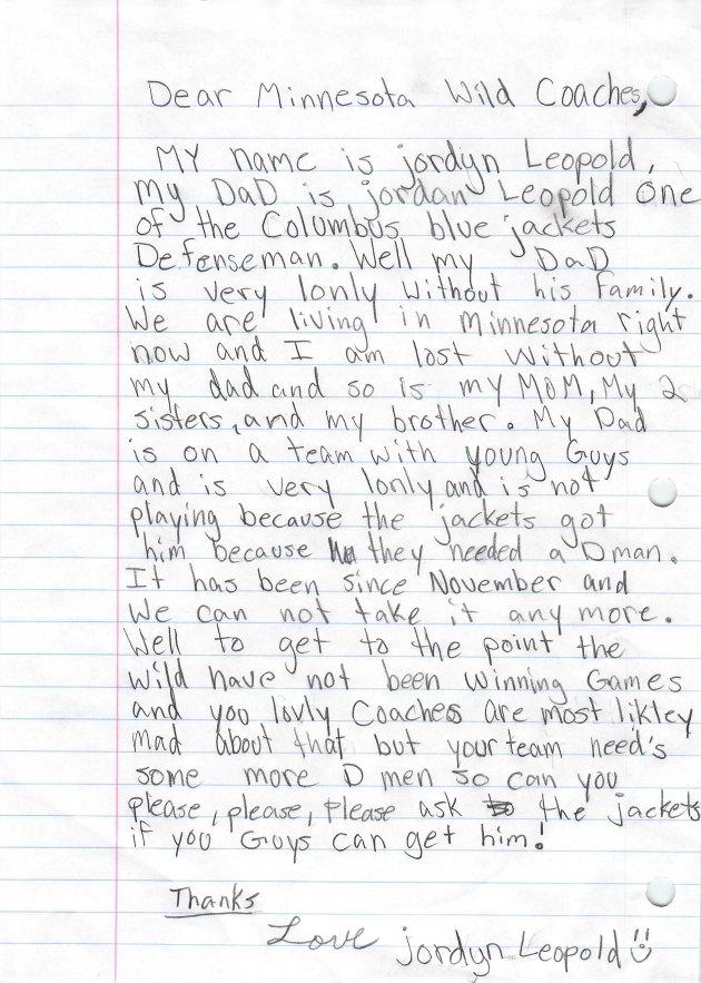 Leopold Letter