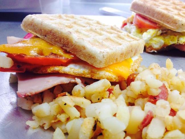 Breakfast waffle sandwich (Photo by Patisserie Lebeau/Facebook)