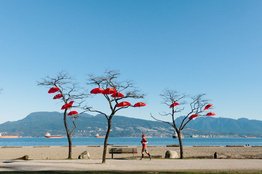 Red Umbrellas Rainblossom spanish Banks