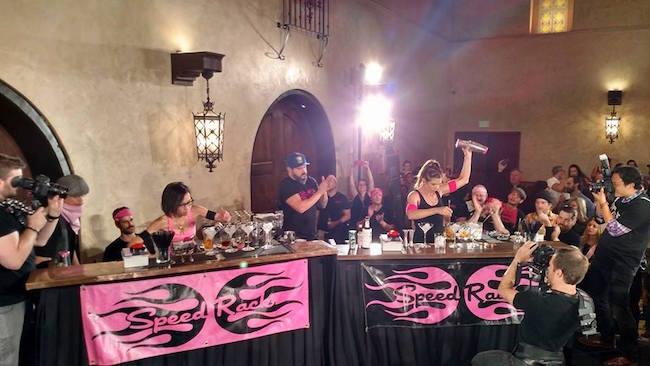 Speed Rack competition in Los Angeles (Photo via Speed Rack/Facebook)