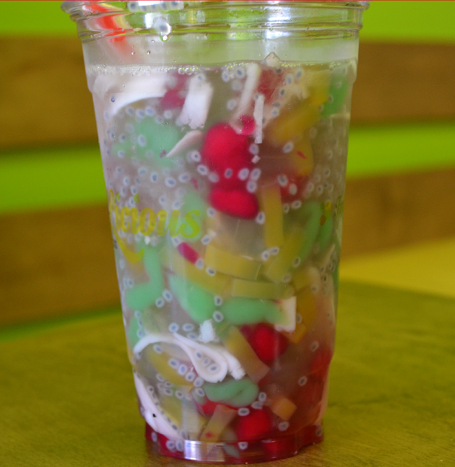 A coconut water Che with extra jellies and pearls (Photo by Farhan Mohamed/Vancity Buzz)