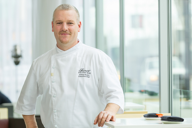 Executie Chef Nathan Brown (Photo courtesy Fairmont Pacific Rim)