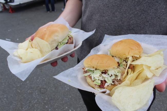 Poomba's pulled pork sliders. Photo credit: Nicolle Hodges