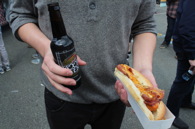 DougieDog and Butterscotch Rootbeer. Photo credit: Nicolle Hodges