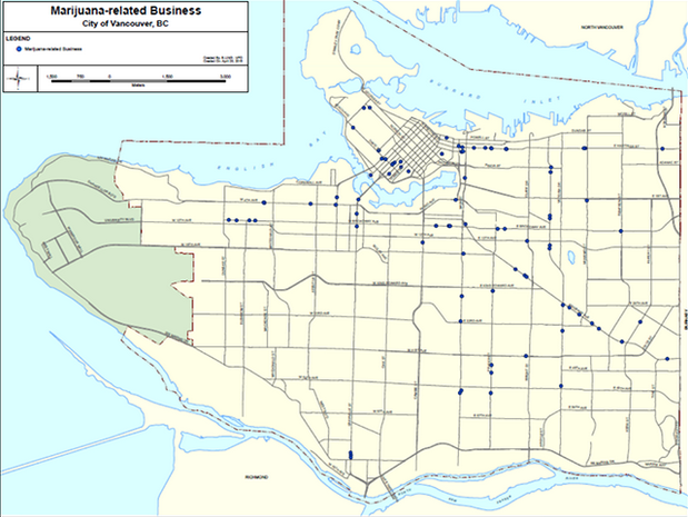 Dispensary's in Vancouver Map