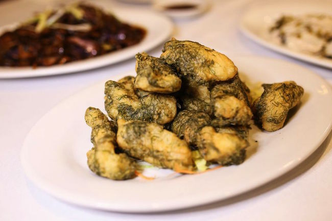 Deep fried yellow croaker fish with seaweed (Photo courtesy Chinese Restaurant Awards)