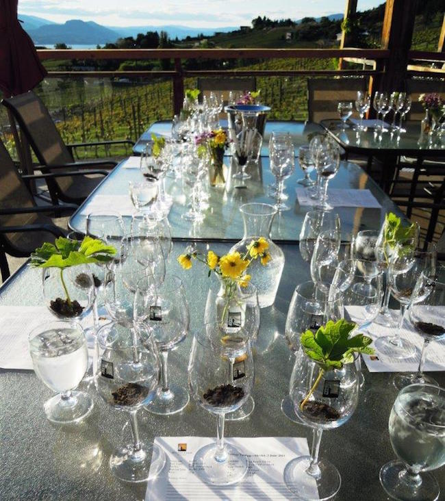 Dining at Hillside Winery Bistro (Photo courtesy Naramata Bench Wineries Association)