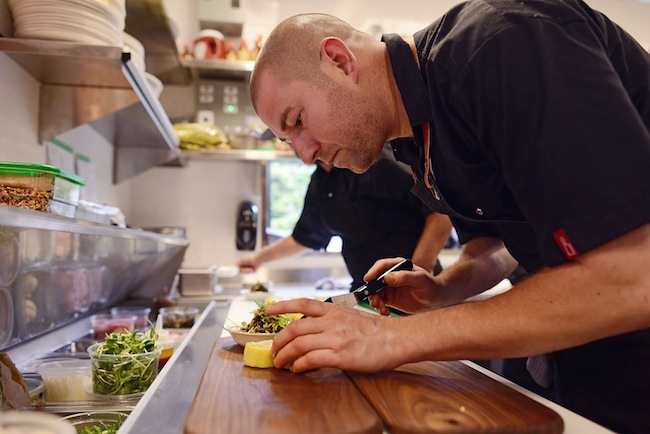 Nick Nutting at work in the Wolf in the Fog kitchen (Photo courtesy Wolf in the Fog)
