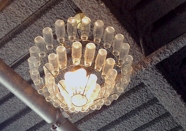 Milk bottle chandelier (Lindsay William-Ross/Vancity Buzz)