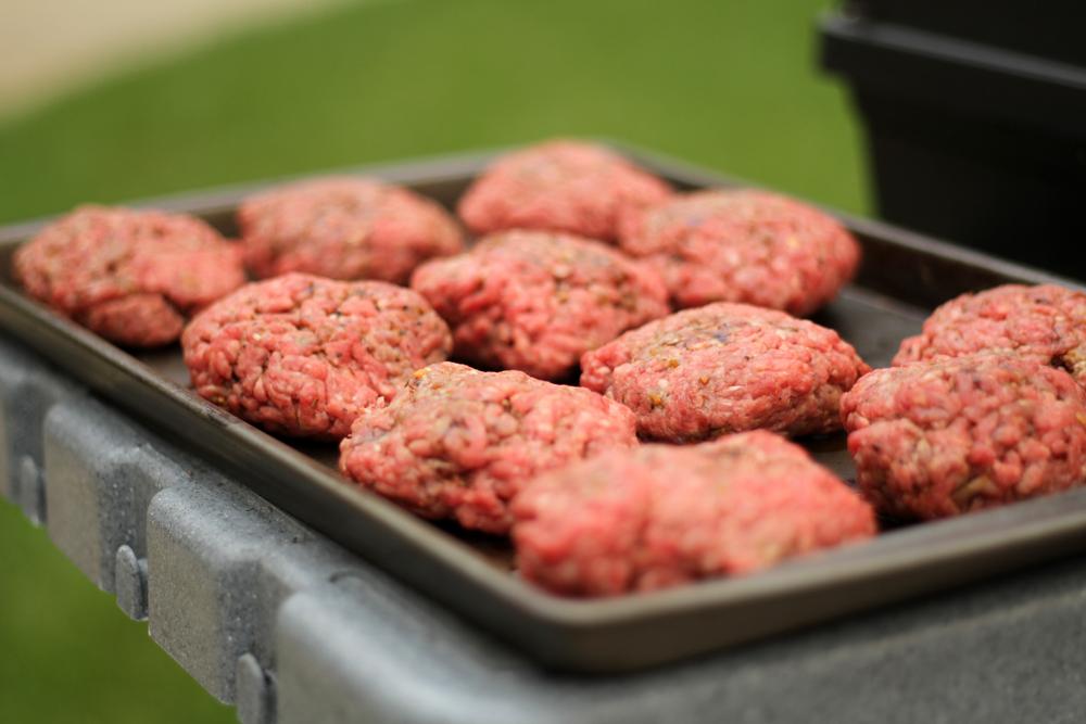 Image: Raw burger patties via Shutterstock