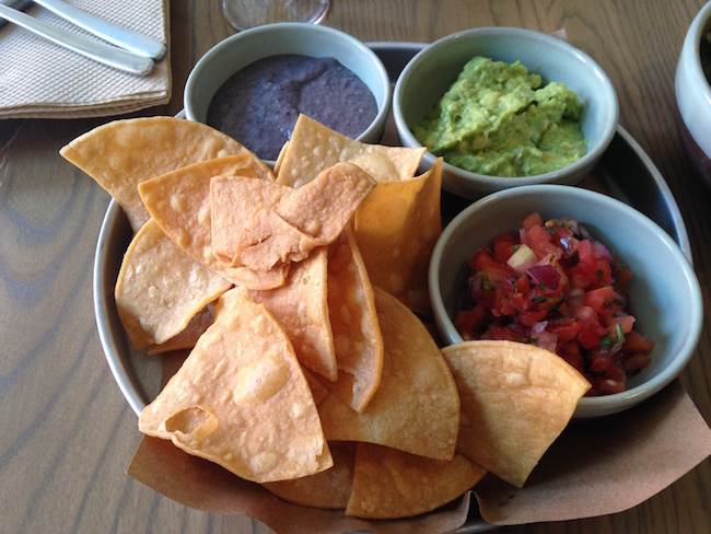 Chips and salsa, guacamole, and bean dip (Lindsay William-Ross/Vancity Buzz)
