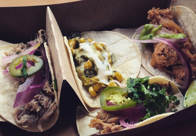 Trio of tacos from Tacomio (Lindsay William-Ross/Vancity Buzz)