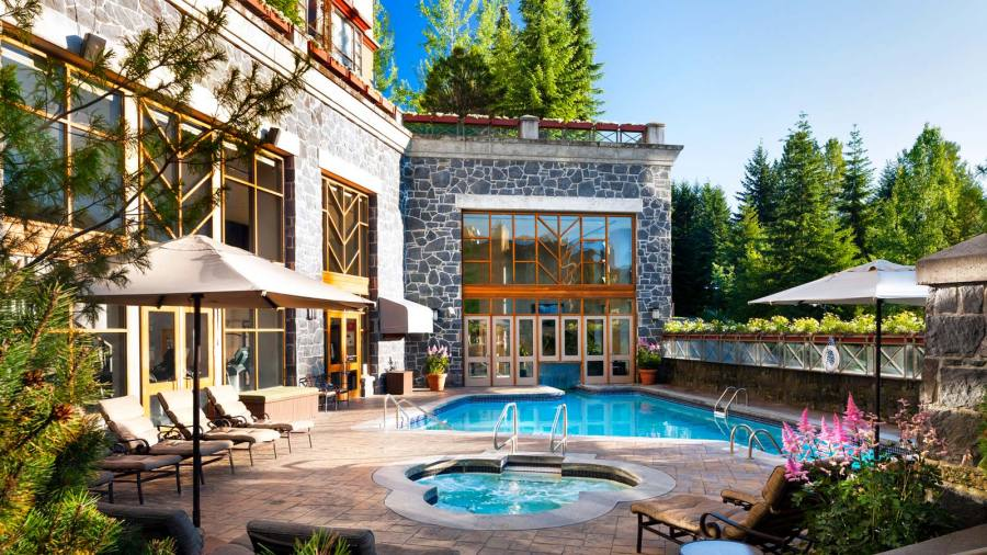 The pool and spa at the Westin Whistler.
