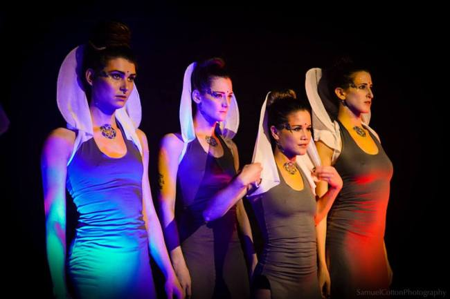 Claire Brousseau, Carly Whitaker-Wilson, Emily Long and Cheyenne Puil of Subscura. Photo: Firehall Arts Centre.