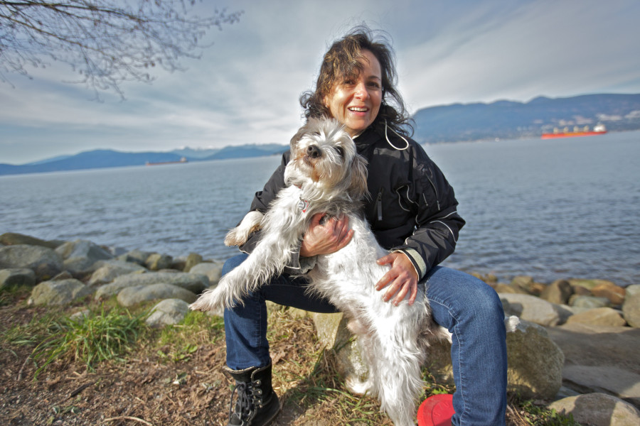 Artemisa with Mateo a Jack-Russell Mix