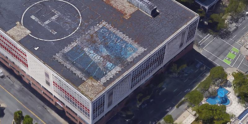 Canada Post Roof. Photo via Google Earth.