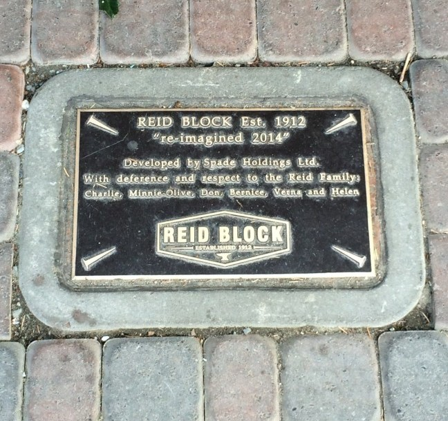 Plaque outside of Blacksmith Bakery (image: Dallas Carlson)