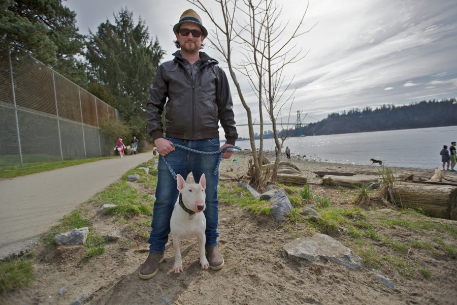 Justin with Rocket a English Bull Terrier