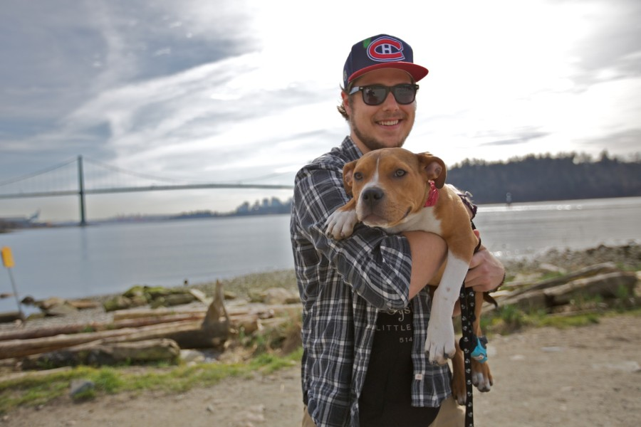 Kyle Davis with Georgia a rescue.