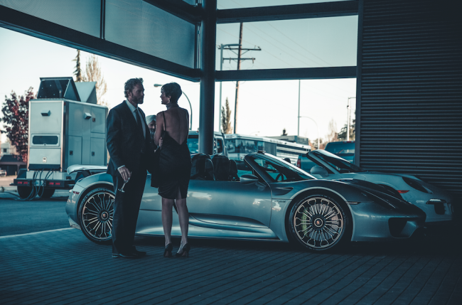 A couple at Porsche Langley opening (image: Nima Zadrafi)