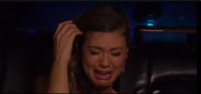 Britt finding out she is NOT 'The Bachelorette.' (screenshot)