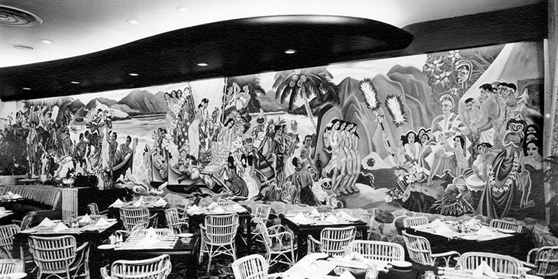 Waldorf Hotel Mural, 1952. Photo by Commercial Illustrators Ltd. via City of Vancouver Archives (CVA 1444-53.06).