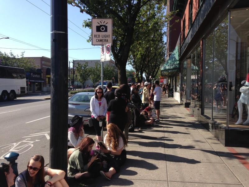 Line-ups stretched around the block/Photo: Lauren Sundstrom