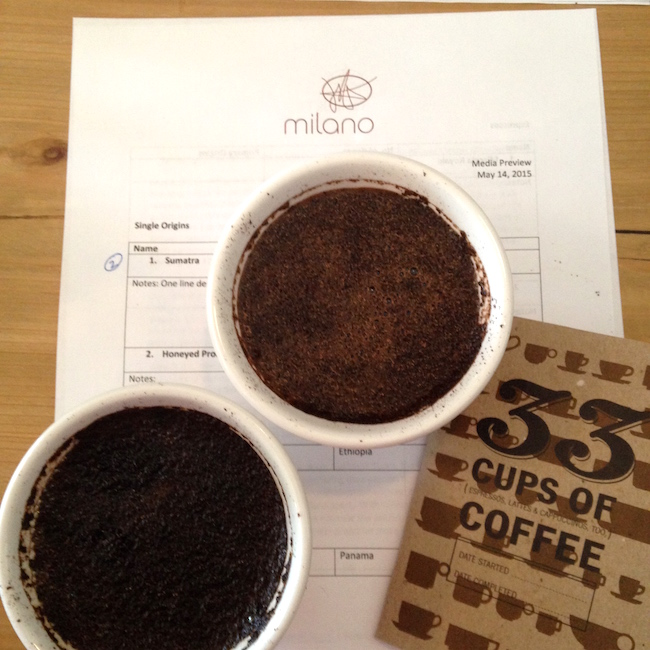At the Milano Coffee class preview (Lindsay William-Ross/Vancity Buzz)