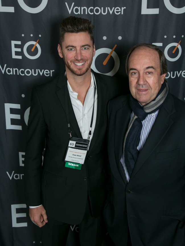 Nando at the event with EO member Cameron Good