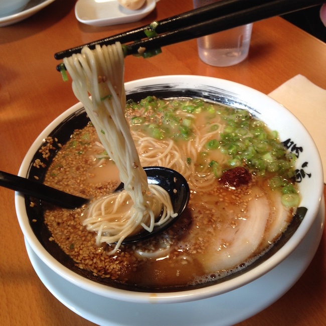 "The noodles at Ramen Danbo are thinner and are served more ""al dente""  (Lindsay William-Ross/Vancity Buzz)"