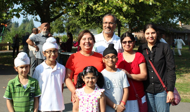 A community BBQ with MLA Harry Bains