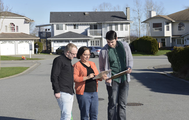 Knocking on doors with volunteers, listening to community concerns
