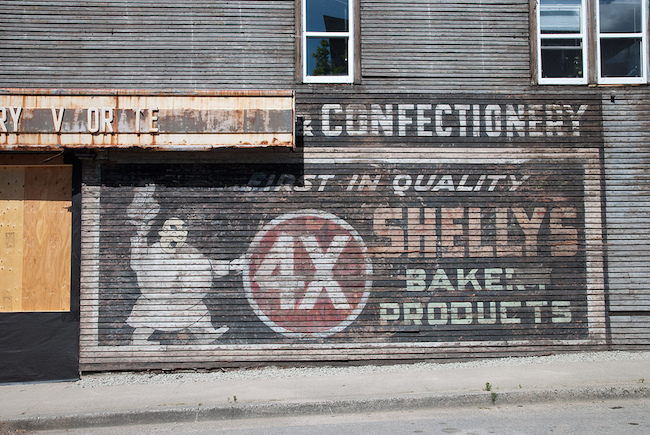 """Shelly's Bakery"" ghost sign, 1190 Victoria Drive, as seen in 2011 (Heritage Vancouver Society/Flickr)"