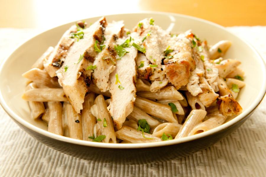 Image: Chicken pasta via Shutterstock