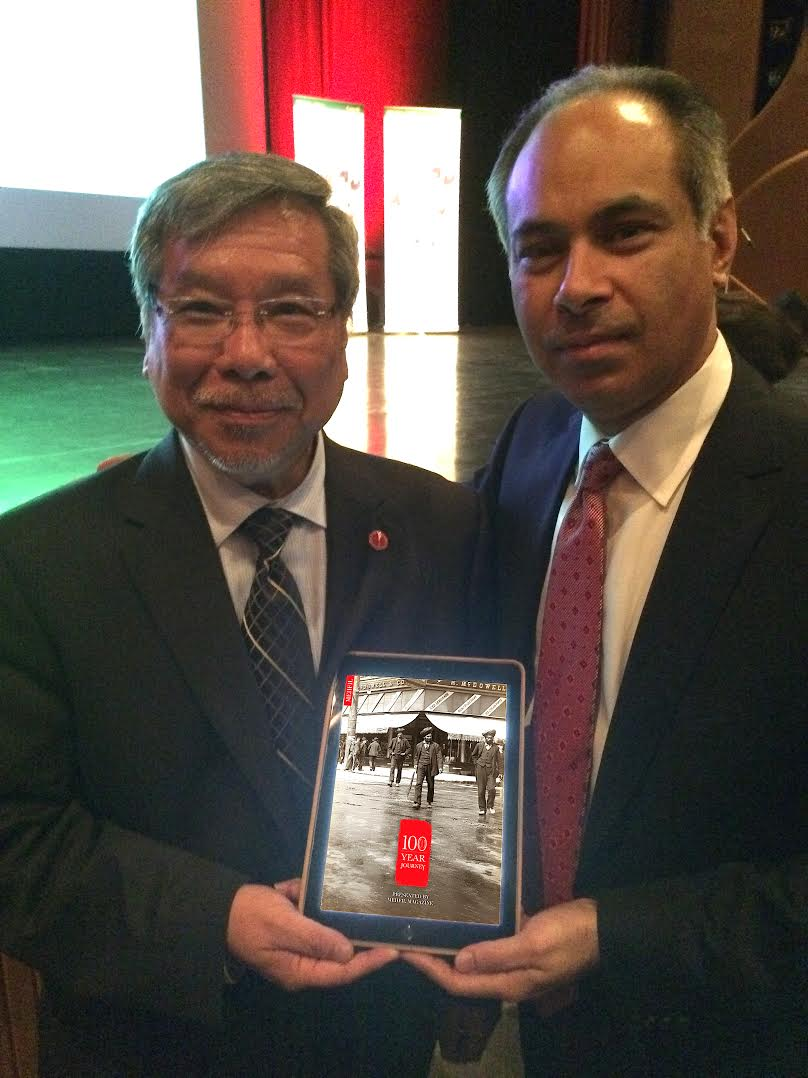 Rana Vig with The Honourable Senator Thanh Hai Ngo, the first Vietnamese Canadian Senator (Image: 100 Year Journey Project)