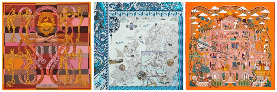 Hermes Scarf Collage