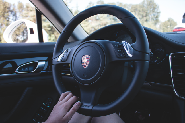 Even the steering wheel is beautiful (Zack Melhus)