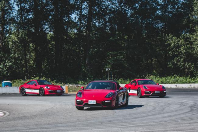 Racing around Mission Park Raceway (Zack Melhus)