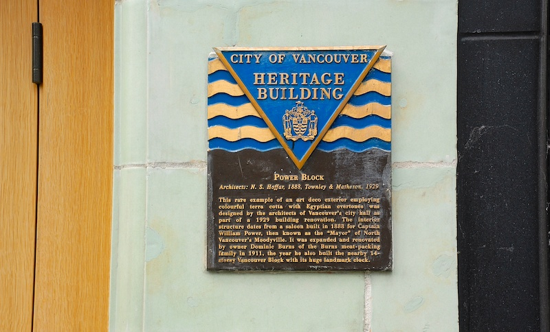 Power Block Heritage Plaque. Photo by Suzanne Rushton.