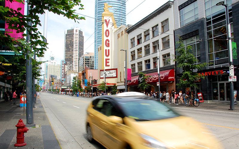 The Vogue Theatre on Granville Street. Photo by Suzanne Rushton.
