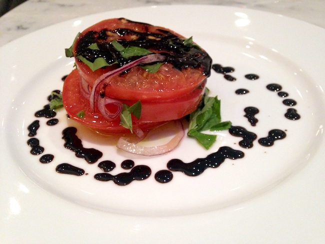 Beefsteak Tomato Salad with Balsamic and Sweet Onion (Lindsay William-Ross/Vancity Buzz)