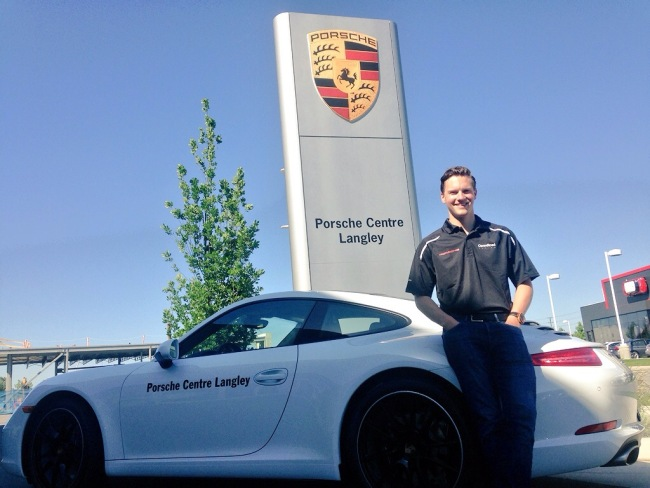 Scott Hargrove of Surrey will race a Porsche GT3 Cup Car in Toronto (Nicolle Hodges)