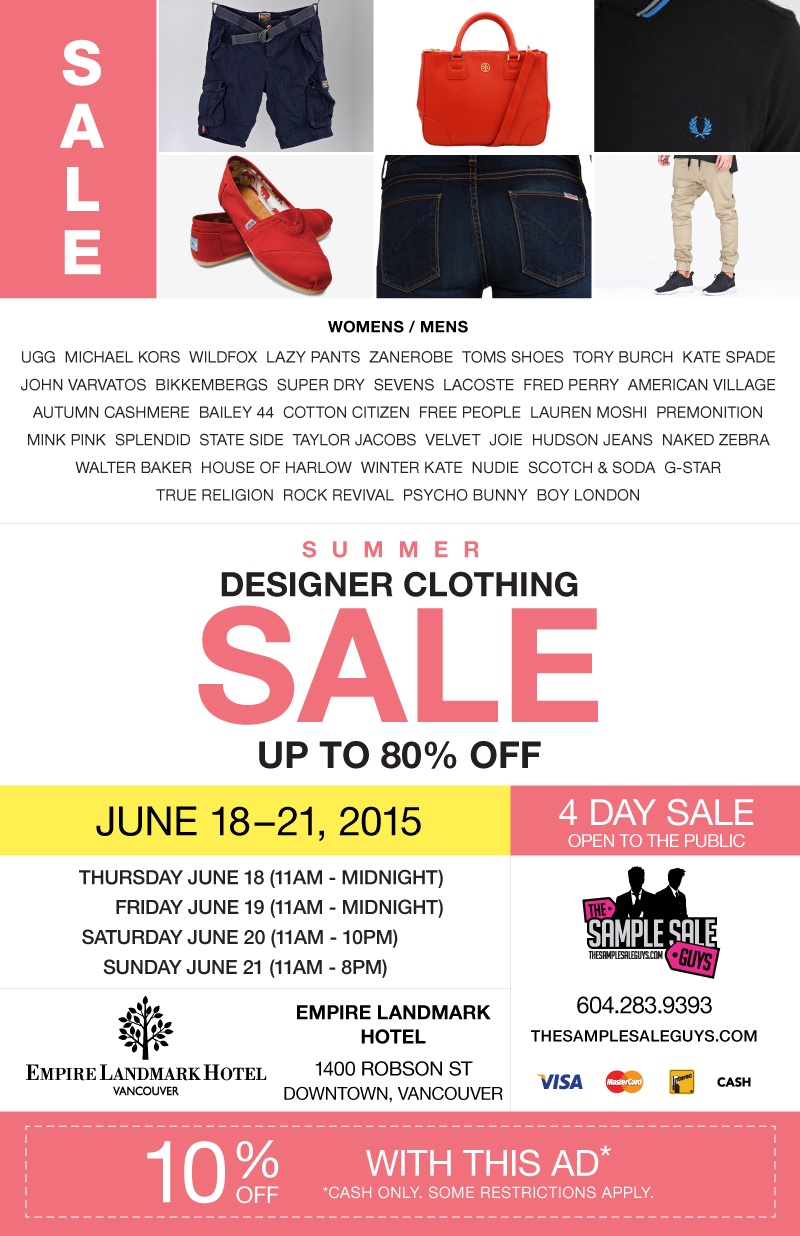 sample sale guys summer 2015